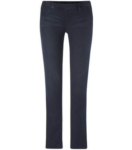 Tall 36in Blue Studded Jeggings | New Look