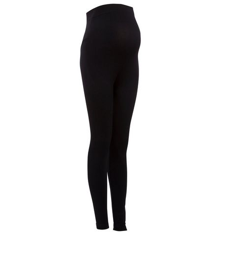 Maternity Black Over Bump Seam Free Leggings | New Look