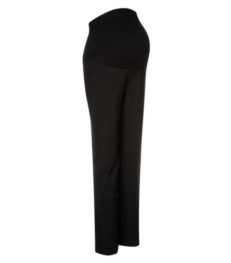 Maternity 30in Black Overbump Bistretch Trousers  | New Look