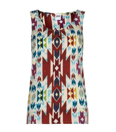 Vero Moda Cream Aztec Print Vest  | New Look