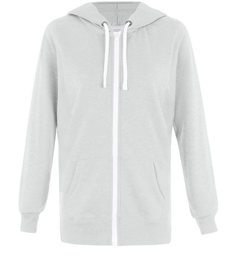 Tall Grey Basic Zip Up Hoodie | New Look