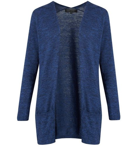 Blue Lowlight Pocket Cardigan | New Look