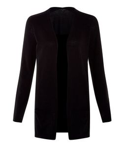 Black Basic Open Front Cardigan | New Look