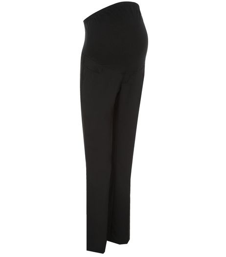 Maternity Black Over Bump Tailored Trousers  | New Look