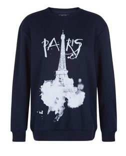 Navy Paris Sweater  | New Look