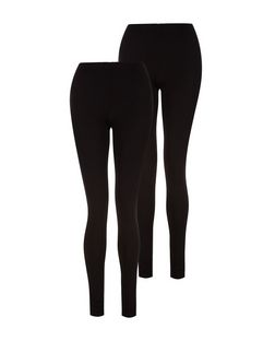 Tall 2 Pack Black Leggings  | New Look