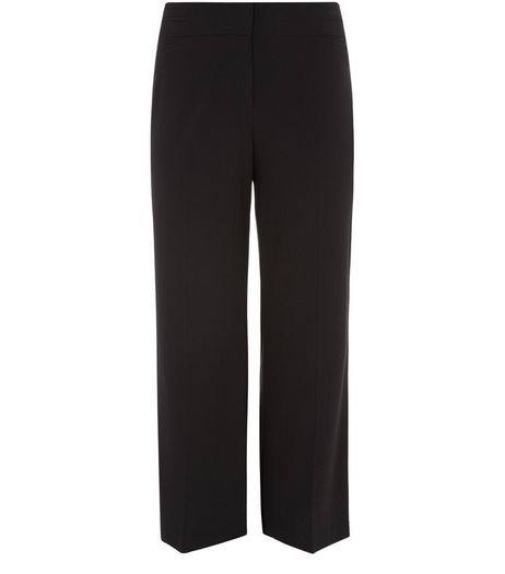 Plus Size 32in Black Tailored Bootcut Trousers  | New Look