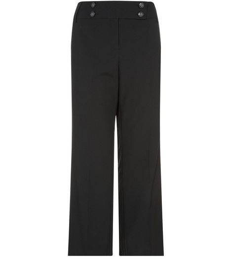 Curves 30in Black Bistretch Trousers | New Look