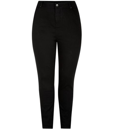 Curves Black 32in Skinny Jeans  | New Look