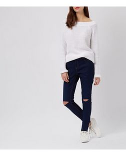 Navy Supersoft Super Skinny Jeans | New Look