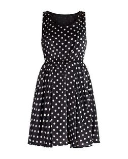 Apricot Navy Polka Dot Sleeveless Pocket Dress | New Look