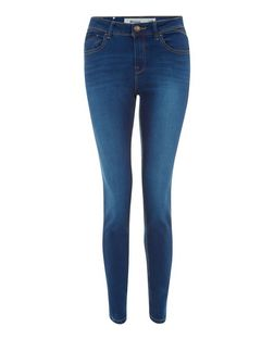 Blue Authentic Faded Skinny Jeans  | New Look