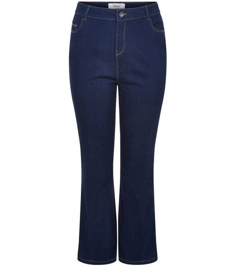 Curves 32in Navy Bootcut Jeans  | New Look