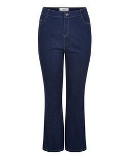 Plus Size 30in Navy Bootcut Jeans  | New Look