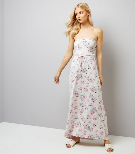 White Floral Print Maxi Dress | New Look