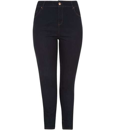 Curves Navy Skinny Jeans  | New Look