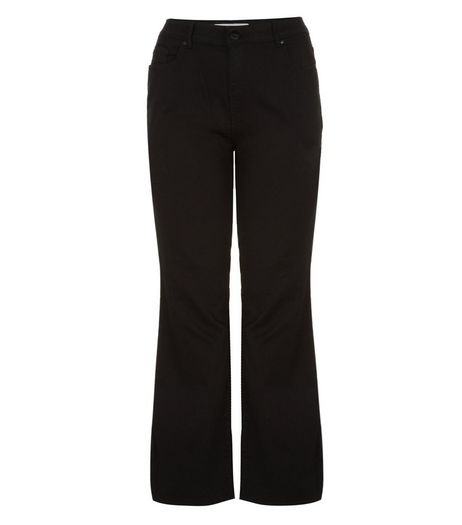 Curves 26-36in Black Bootcut Jeans | New Look