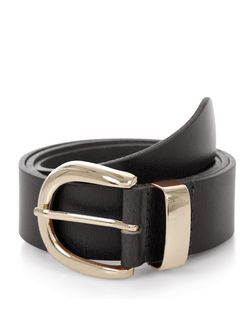 Black Leather Jeans Belt  | New Look