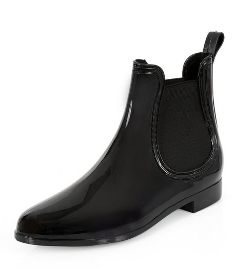 Black Chelsea Wellies | New Look