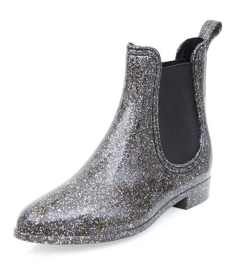 Silver Chelsea Wellies  | New Look
