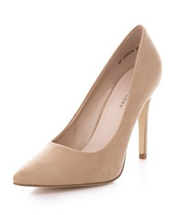 Stone Pointed Court Shoes  | New Look