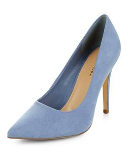 Pale Blue Pointed Court Shoes | New Look