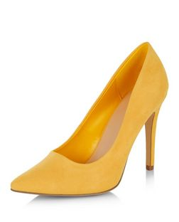 Yellow Pointed Court Shoes | New Look