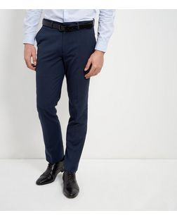 Navy Slim Leg Trousers  | New Look