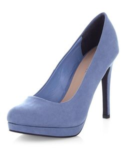 Pale Blue Platform Court Shoes  | New Look