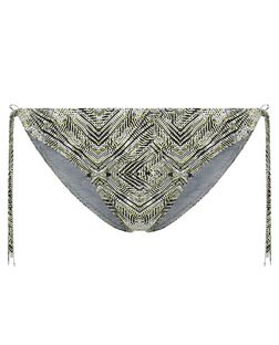 Light Green Tribal Print Tie Side Bikini Bottoms | New Look
