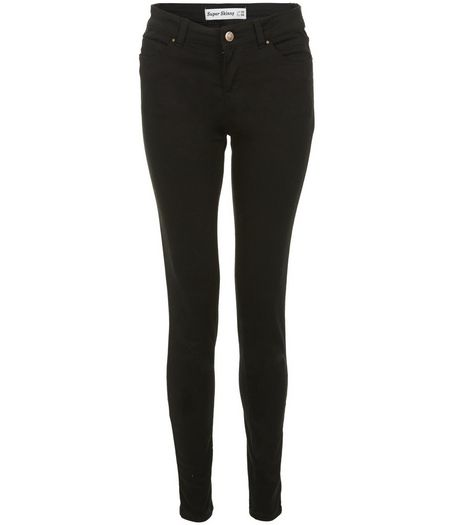 Black Supersoft Super Skinny Jeans  | New Look