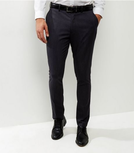 Dark Grey Slim Fit Suit Trousers | New Look