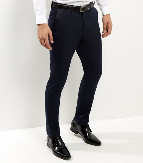 Navy Slim Fit Suit Trousers | New Look