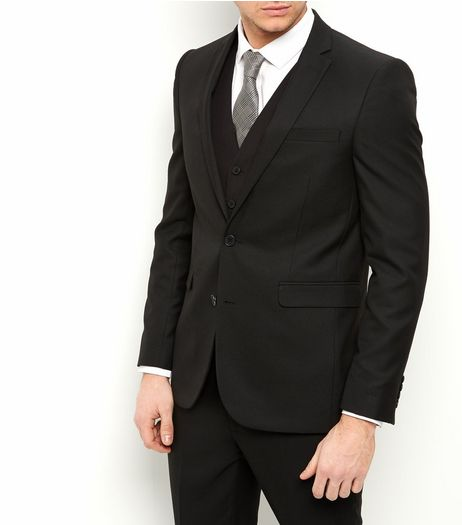 Black Slim Fit Suit Jacket  | New Look
