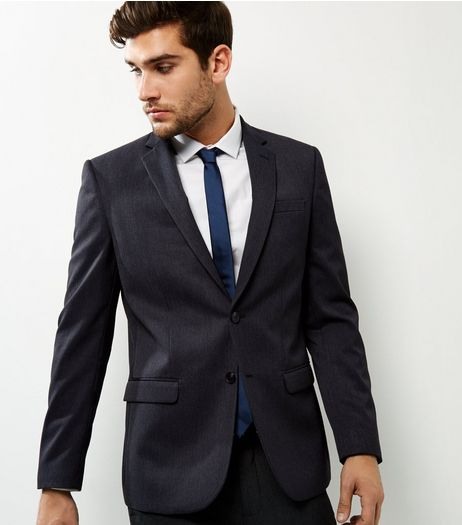 Dark Grey Slim Fit Suit Jacket | New Look