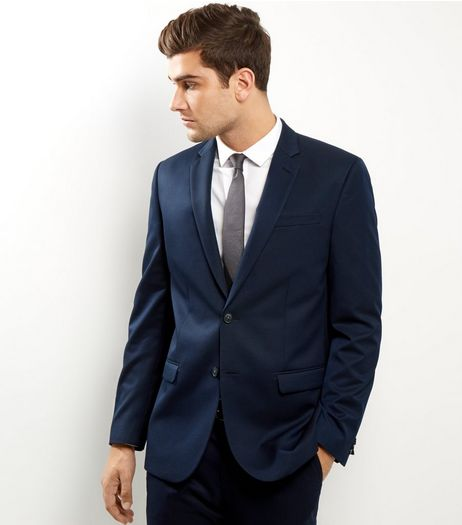 Navy Slim Fit Suit Jacket | New Look