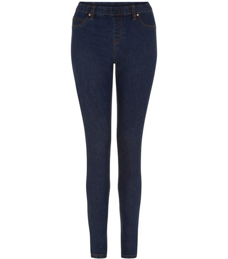 Navy Seam Stitch Jeggings  | New Look