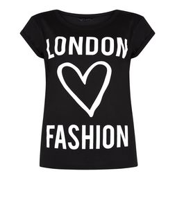 Black London Fashion T-Shirt  | New Look