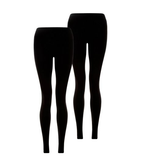 Teens 2 Pack Black Long Leggings  | New Look
