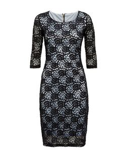 Amalie & Amber Navy Lace Midi Dress | New Look