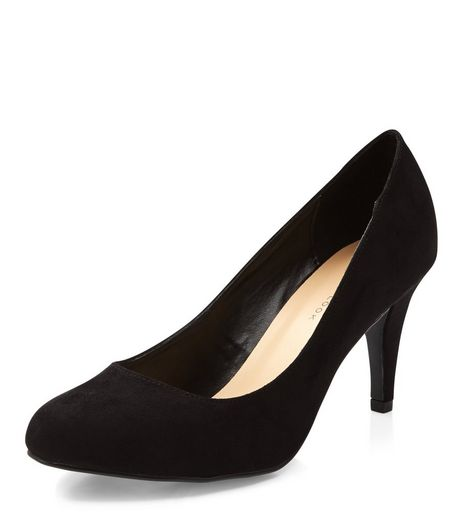 Wide Fit Black Court Shoes  | New Look