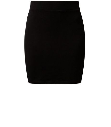 Black High Waisted Tube Skirt  | New Look