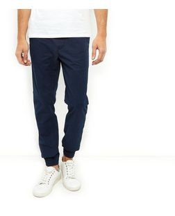 Navy Tapered Joggers  | New Look