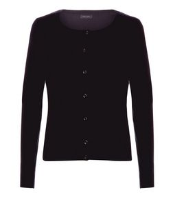 Black Basic Crew Neck Cardigan  | New Look