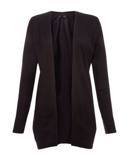 Black Pocket Cardigan  | New Look