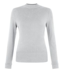 Grey High Neck Jumper | New Look