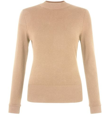 Camel High Neck Jumper | New Look