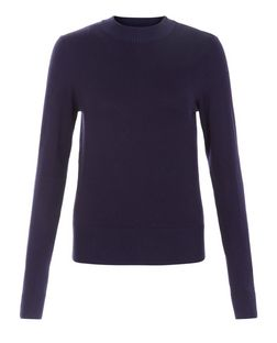 Navy High Neck Jumper | New Look
