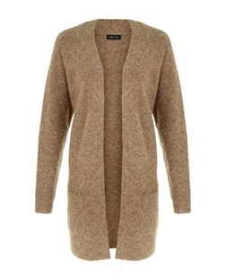 Camel Boucle Knit Midi Cardigan  | New Look