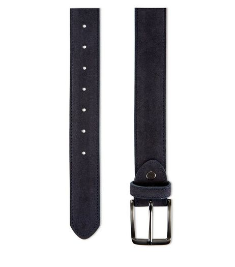 Navy Suedette Belt  | New Look